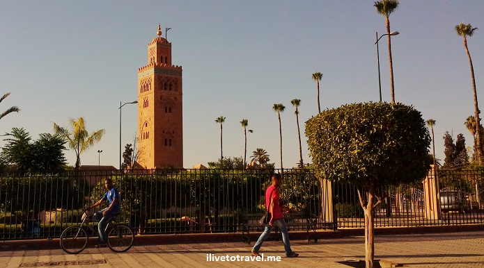 Marrakesh, Morocco, minaret, Koutoubia mosque, travel, photo, Samsung Galaxy