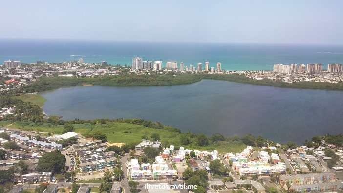 Puerto Rico, airplane, window seat, Isla Verde, San Juan, landing, ocean, blue sea ,El Morro, Old San Juan, travel, photo, Samsung Galaxy