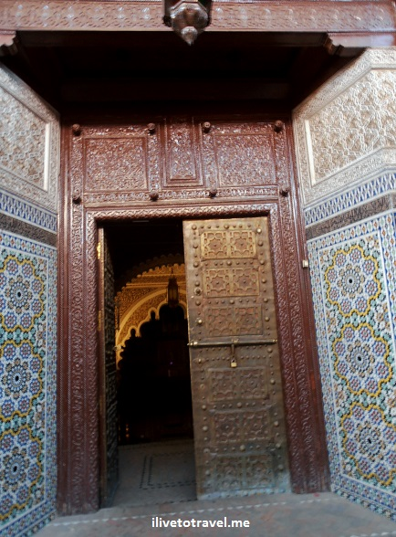 mosaic, engraved doors, Arab design, Marrakesh, medina, Morocco, Olympus, photo, travel