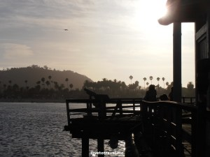 sunset, beach, California, Santa Barbara, photo, travel, Olympus