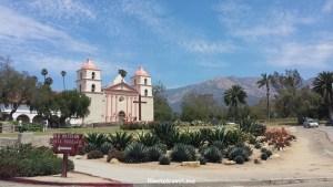 Santa Barbara, Mission, California, Franciscan, Olympus, travel, photo, architecture, history, religion, blue sky, church, cross