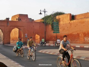 Marrakesh, Morocco, red, Olympus, travel, photo, architecture, bicycles