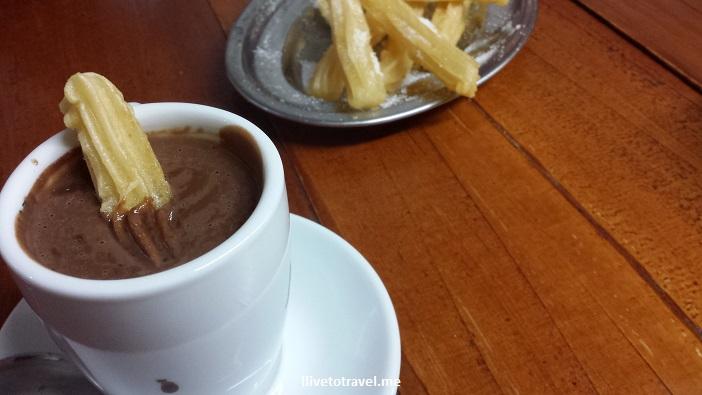 churros, hot chocolate, food, foodporn, Santiago de Compostela, Spain, España, Espagne, travel, photo, Galicia, Samsung Galaxy