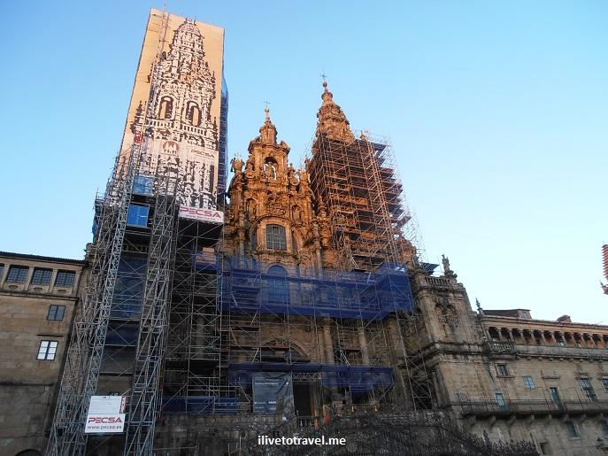 Praza do Obradoiro, Cathedral, façade, west facade,Santiago de Compostela, Galicia, Spain, World Heritage Site, travel, photo, architecture, Olympus