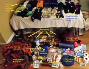 Nepal packing - labeled