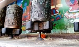 The prayer wheels