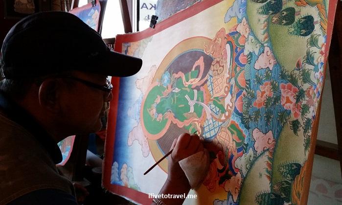 Tibetan art, painting, Great Boudha Stupa, stupa, Buddhist, Buddhism, Kathmandu, Nepal, Samsung Galaxy, travel, tourism