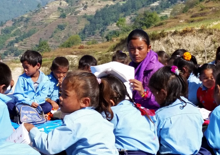 Kumari, Shree Bikash, school, Nuwakot, Nepal, Trekking for Kids, voluntourism, service, Samsung Galaxy