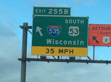 Wisconsin, interstate, I-535, highway, travel