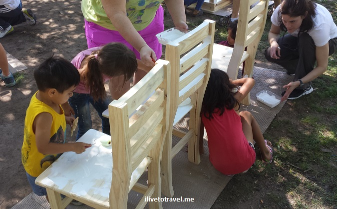 Buenos Aires, Argentina, zoo, Trekking for Kids, service, painting, chairs,photo