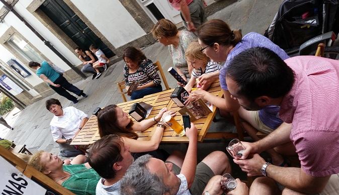 beer, tapas, Santiago, Compostela, Galicia, Spain, España, tourism, travel, hiking, Samsung Galaxy