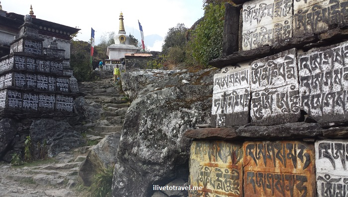 stupa, Buddhism, sanskrit tablet, stupa, Himalayas, Everest trek, Nepal, travel, outdoors, faith, religion, photo, Olympus