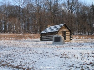 Valley Forge in winter - reminder of the cost of our freedom