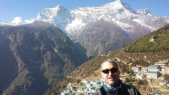 Nepal, Namche Bazaar, Himalayas, Everest, EBC, town, mountains, photo, Samsung Galaxy, ilivetotravel