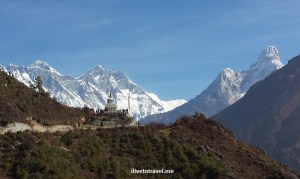 Headed towards the stupa with the best backdrop!