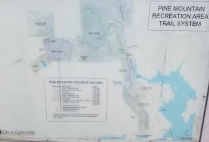 hiking, map, Pine Mountain, Georgia, outdoors, nature, photo, Atlanta