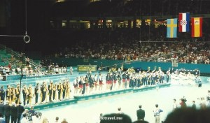 Medal ceremony for men's handball