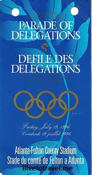 Atlanta, Olympics, Opening Ceremonies, Olympic Games, 1996, Parade of Nations, pass, defile des delegations, Olimpiadas