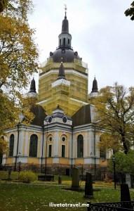 Katarina kyrka, Catherine church, Stockholm, Sweden, fall, color, Sodermalm, travel, tourism, photo, Samsung Galaxy, S7