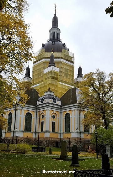 Katarina kyrka, Catherine church, Stockholm, Sweden, fall, color, Sodermalm, travel, tourism, photo, Samsung Galaxy, S7