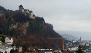 Castle perched right above Vaduz