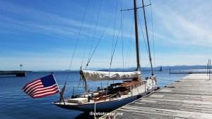 Lake Champlain, Burlington, sailboat, Vermont, blue sky, peaceful, beautiful