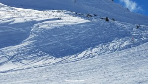 The side slope that I accidentally skied through