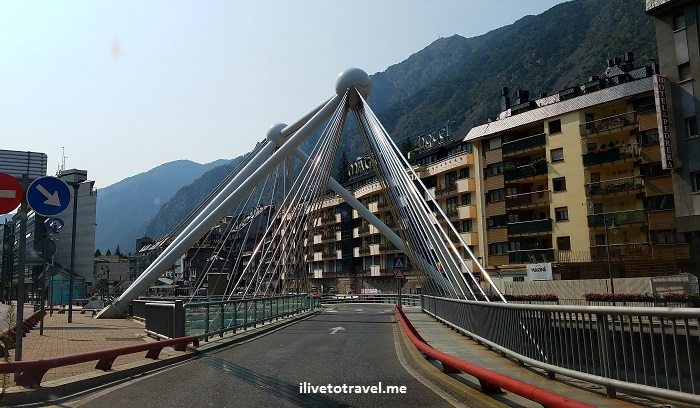architecture, bridge, puente, Andorra la Vella, Pyrenees, Andorra, drive, driving, Europe, travel, turismo, photo