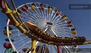 Free Desktop Wallpaper – Santa Monica Pier Rides