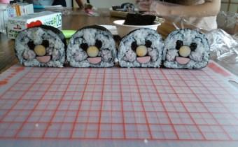 飾り巻き寿司体験!アンパンマンを巻こう 2014年7月