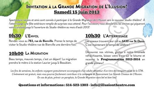 Invitation à la Grande Migration