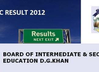 BISE DG Khan Board Matric Result 2012