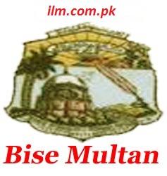 BISE Multan Board Inter Part 1 Result 2015
