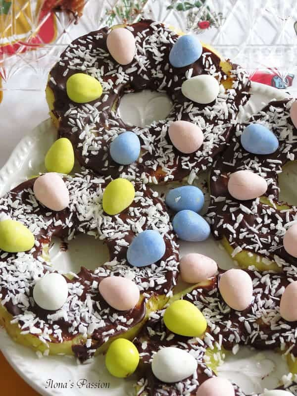 Chocolate Pineapple Easter Nests
