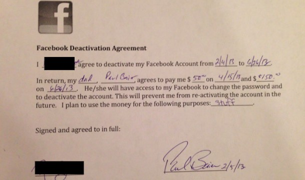 Father Offers Daughter $200 To Quit Facebook