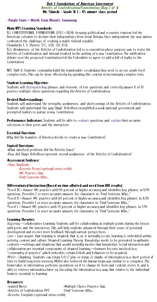 Lesson Plan Templates I Love Social Studies - Universal design lesson plan template