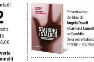 Stalking e Stalker libro Angela Davoli e Carmela Cancellara ritaglio