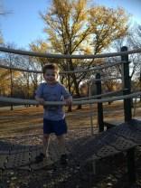 The bouncy bridge.