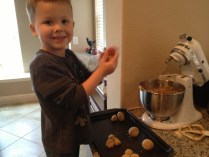 We're making manly cookies!