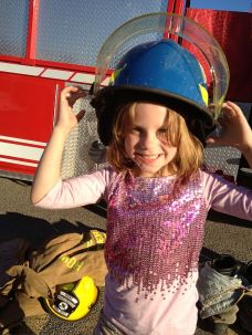 A real fireman's helmet.