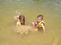 Lake swims.