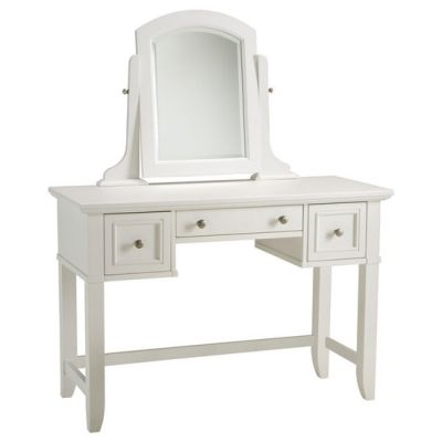 Home Styles Naples Vanity & Vanity Bench / Stool in White ...