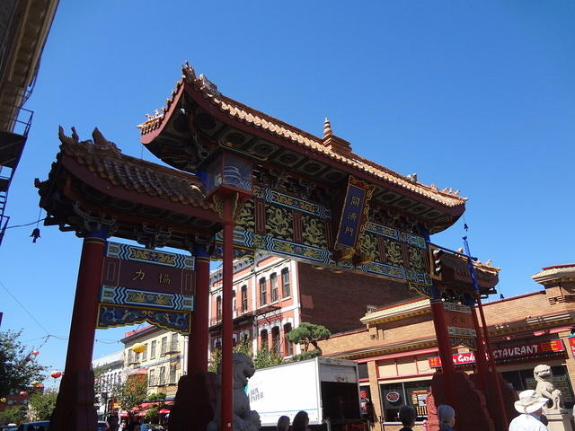 Chinese gate in Victoria's Chinatown