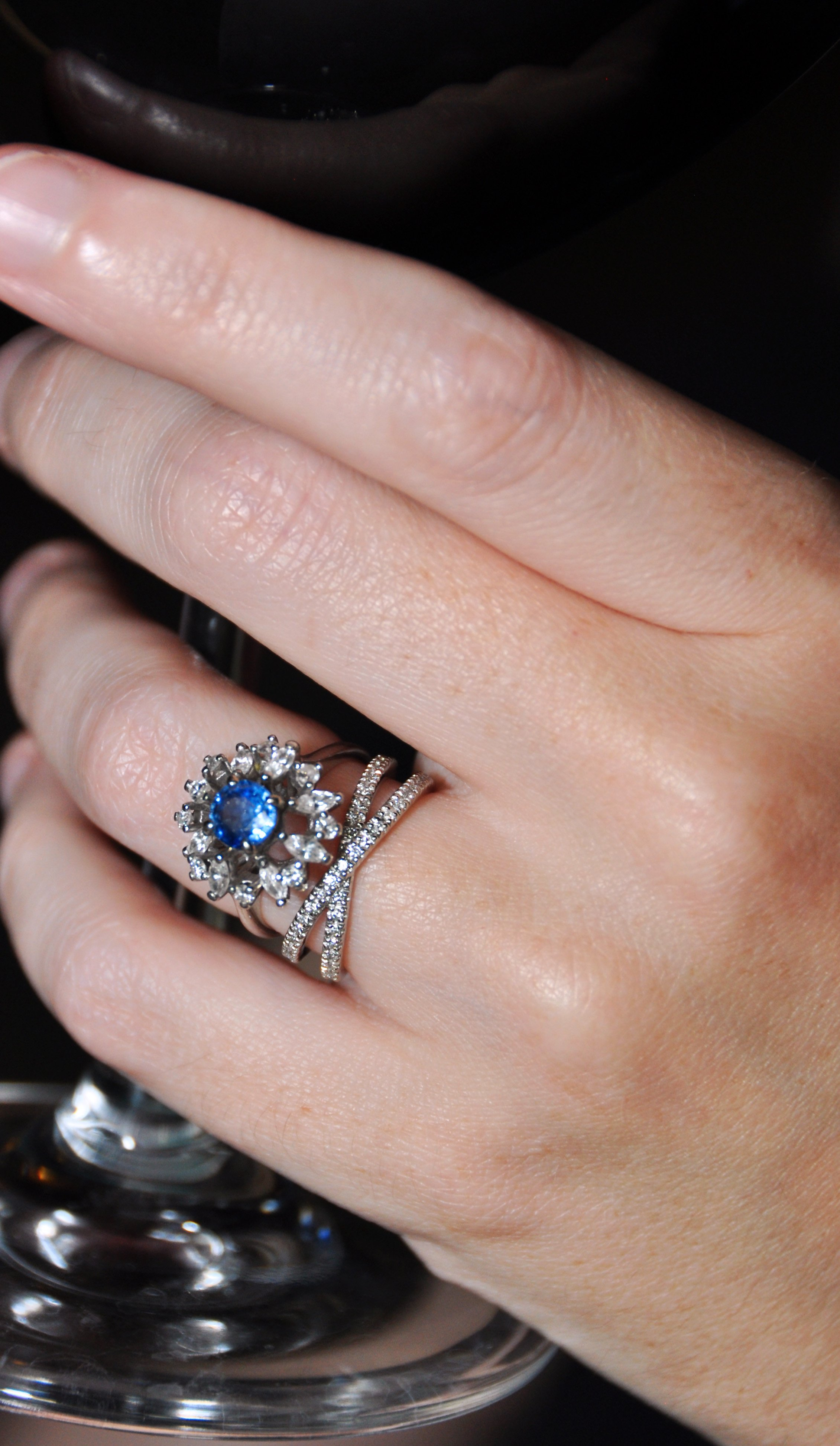 antique sapphire rings sapphire wedding rings Sometimes women who are attracted to vintage engagement rings worry about how these unique rings from the past will pair with a modern wedding ring