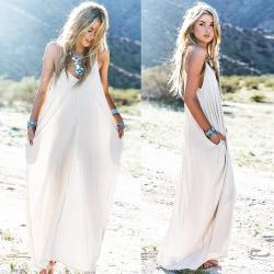 Small Of White Maxi Dress