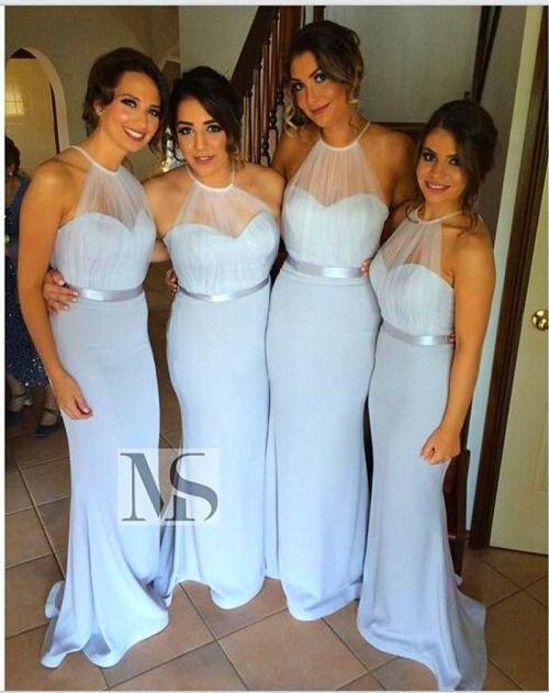 Distinctive Light Blue Bridesmaids Dresses 2015 Size Cheap Long Bridesmaid Dresshalter Chiffon Pleats Length Mermaid Bridesmaid Gowns Hy Cheap Light Blue Bridesmaids Dresses 2015 Size Cheap Long Bride