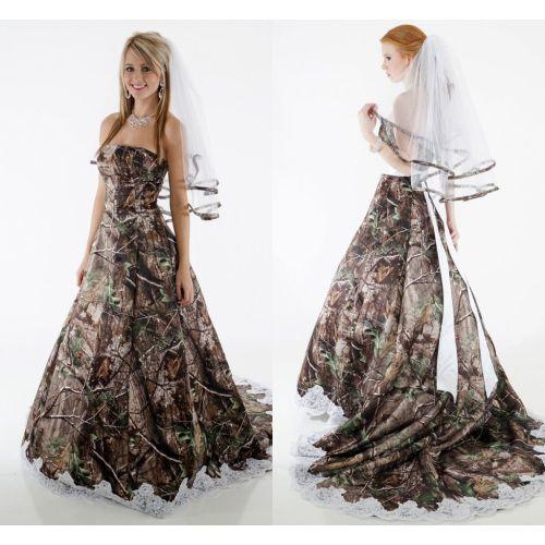 Medium Crop Of Camo Wedding Dress