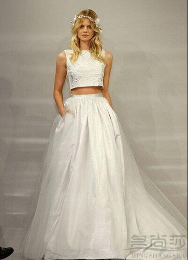 Fullsize Of Two Piece Wedding Dress