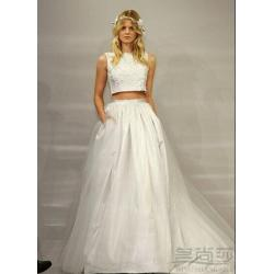 Small Crop Of Two Piece Wedding Dress