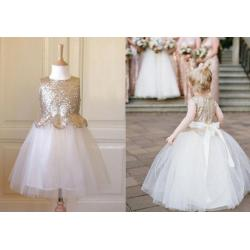 Small Crop Of Gold Flower Girl Dresses